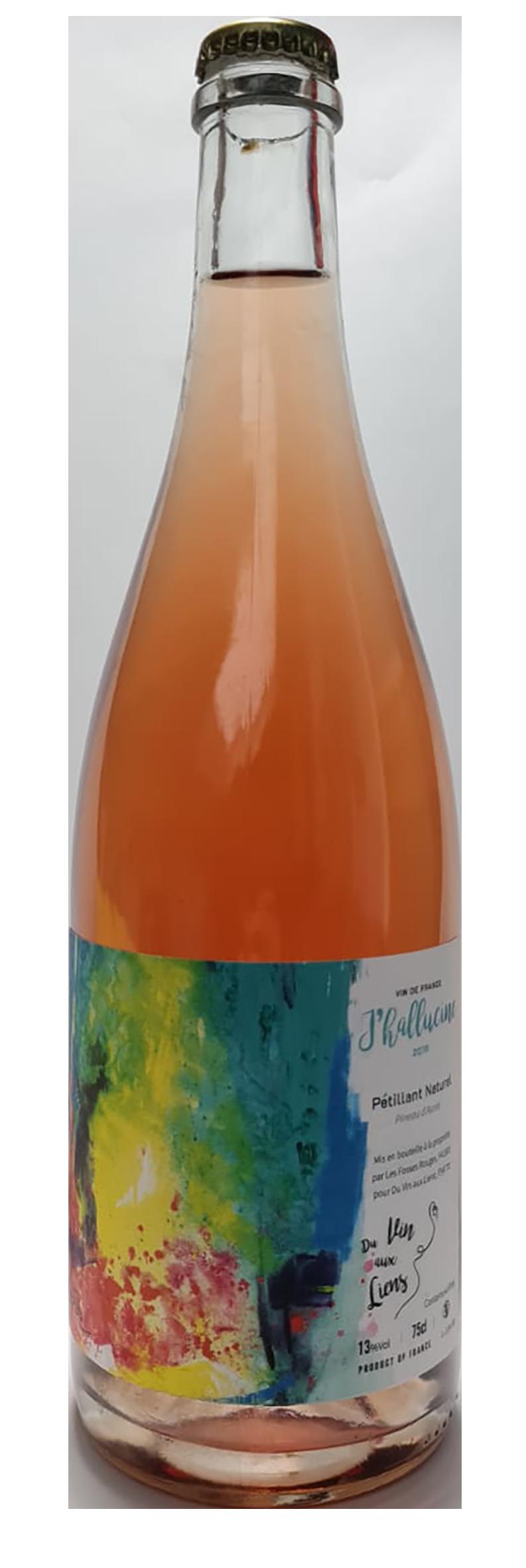 bouteille de Pet Nat rosé pétillant