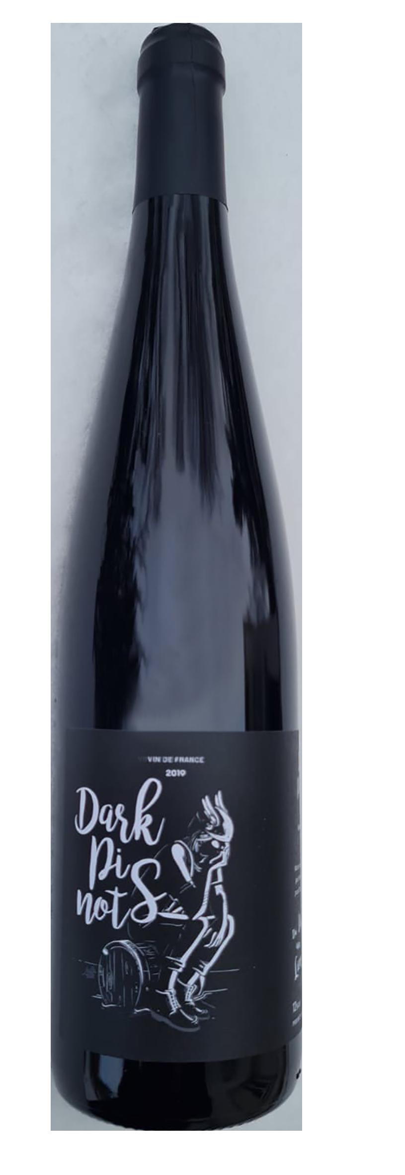 bouteille de vin rouge d'alsace par Du vin aux liens, cofermentation de 80% de Pinot Noir et de 20% de Pinot Gris