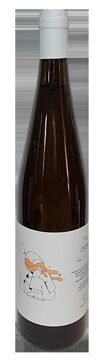 bouteille de vin blanc de macération italien, domaine cantina giardino, cuvée Fra 2019