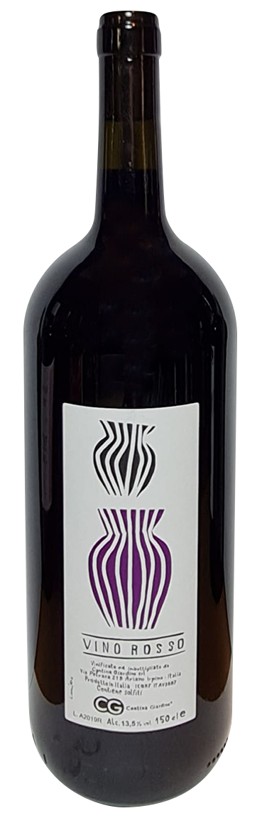 bouteille de magnum de vin rouge naturel italien, domaine cantina giardino, cuvée Magnum Rosso Anfora