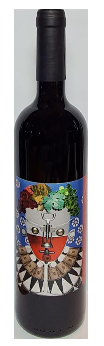 bouteille de vin rouge naturel italien, domaine cantina giardino, cuvée clown oenologue 2017