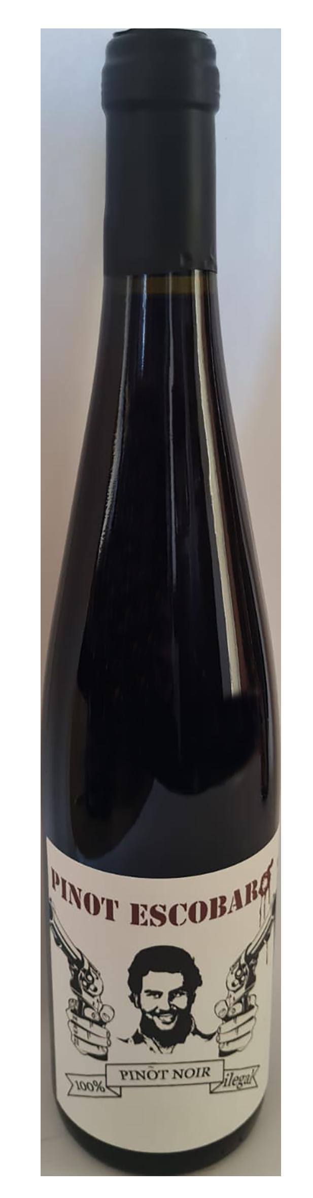 bouteille de vin rouge naturel alsacien, producteur Sons of Wine, cuvée Pinot Escobar 2019