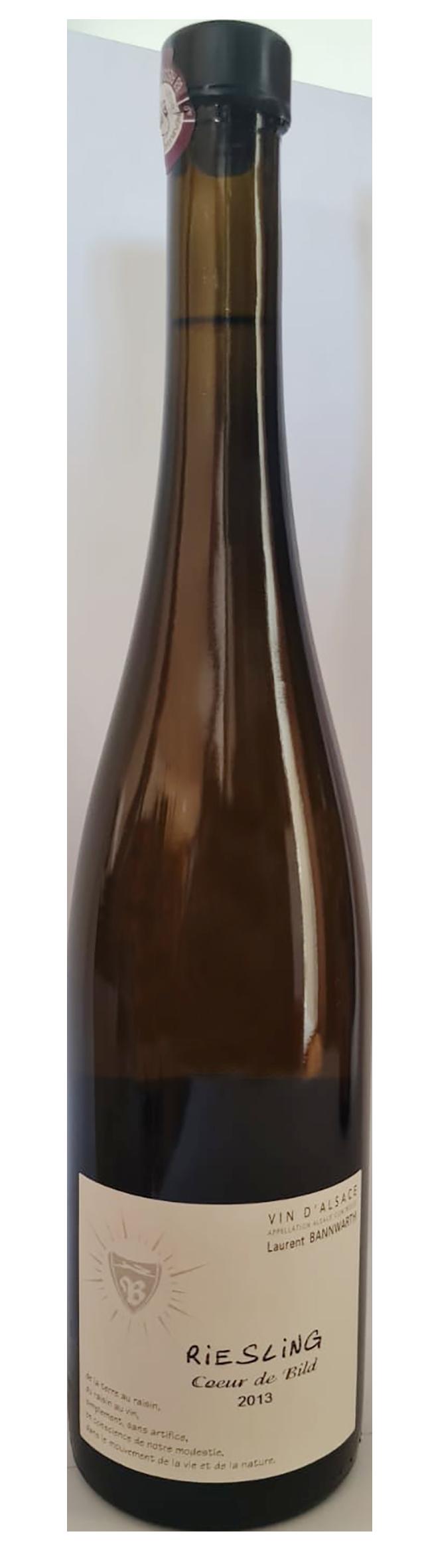 bouteille de vin blanc naturel d'alsace, Domaine Bannwarth, cuvée Riesling coeur de Bild 2013