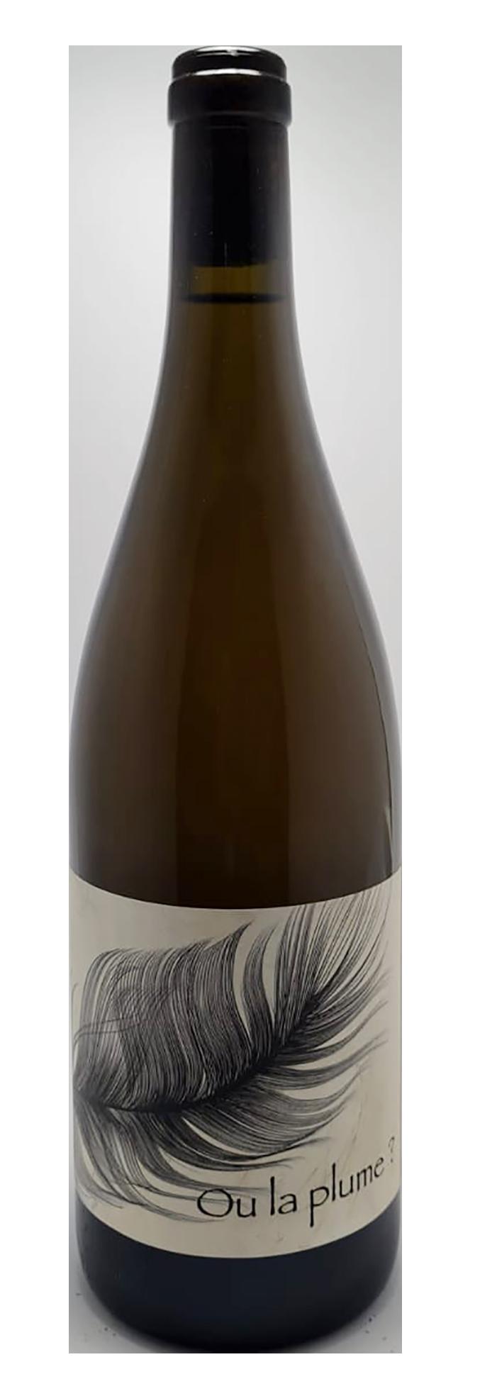 bouteille de vin blanc naturel du roussillon, cuvée Ou la Plume ? Producteur Bonyvresse