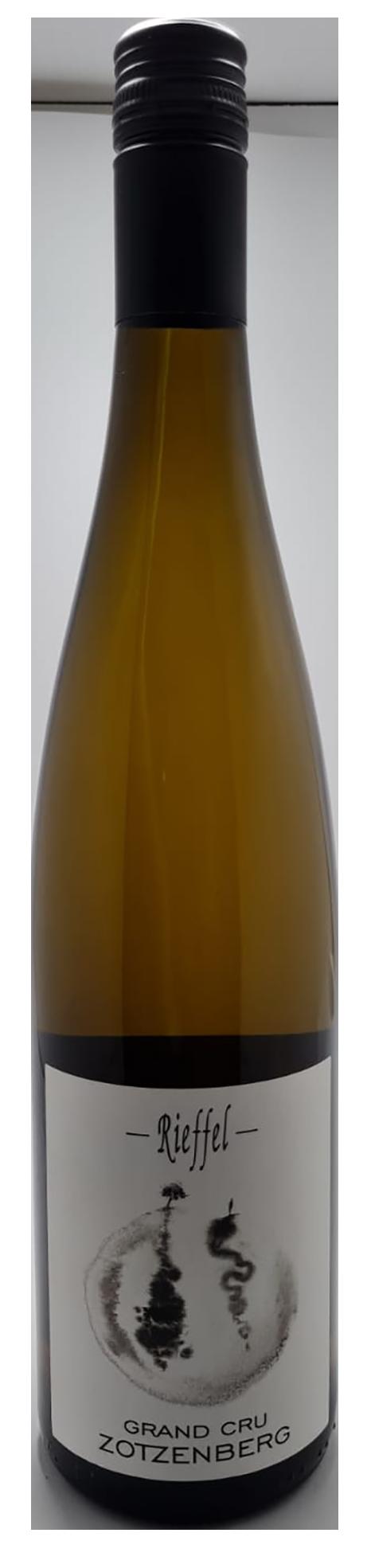bouteille de vin blanc naturel d'alsace, cuvée Sylvaner Grand Cru Zotzenberg 2017, domaine Rieffel