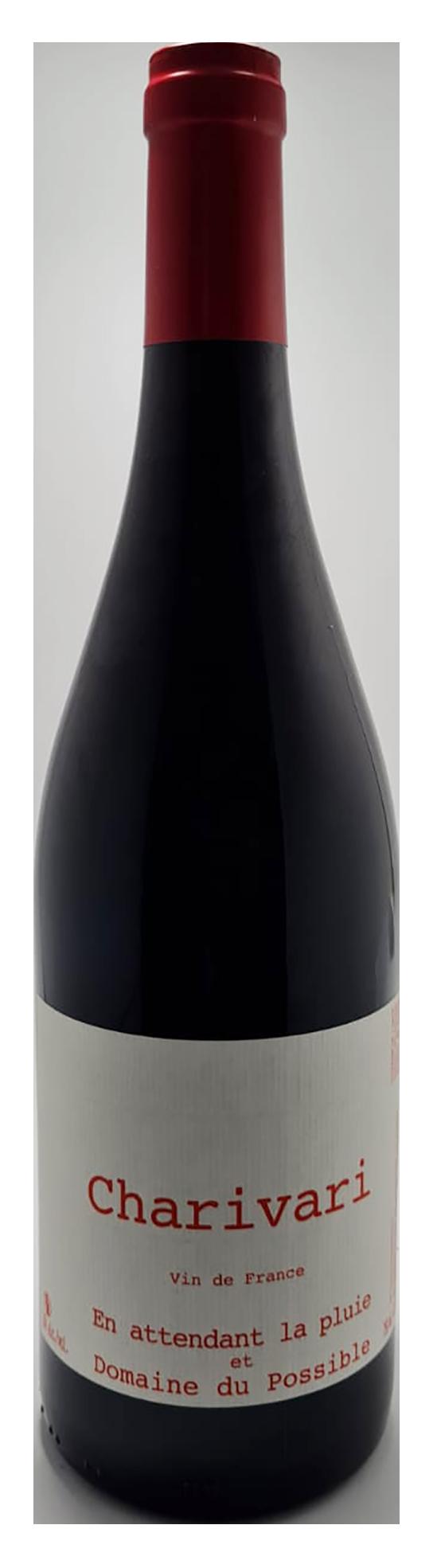 bouteille de vin rouge naturel du roussillon, cuvée charivari 2020, domaine du possible