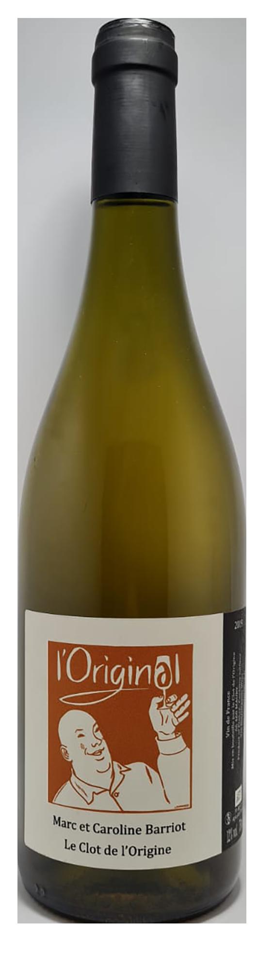 bouteille de vin blanc naturel du roussillon, cuvée l'original 2018, domaine clot de l'origine