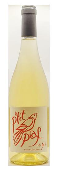 Bouteille de vin blanc naturel du roussillon, cuvée P'tit piaf blanc 2020, domaine de l'ausseil