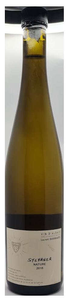 bouteille de vin blanc naturel d'alsace, domaine Bannwarth, cuvée Sylvaner Nature 2018
