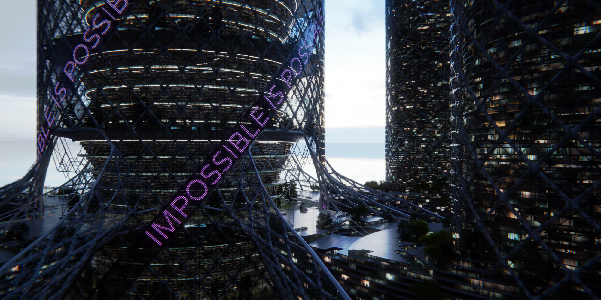 Apex project rendered from an outside camera angle