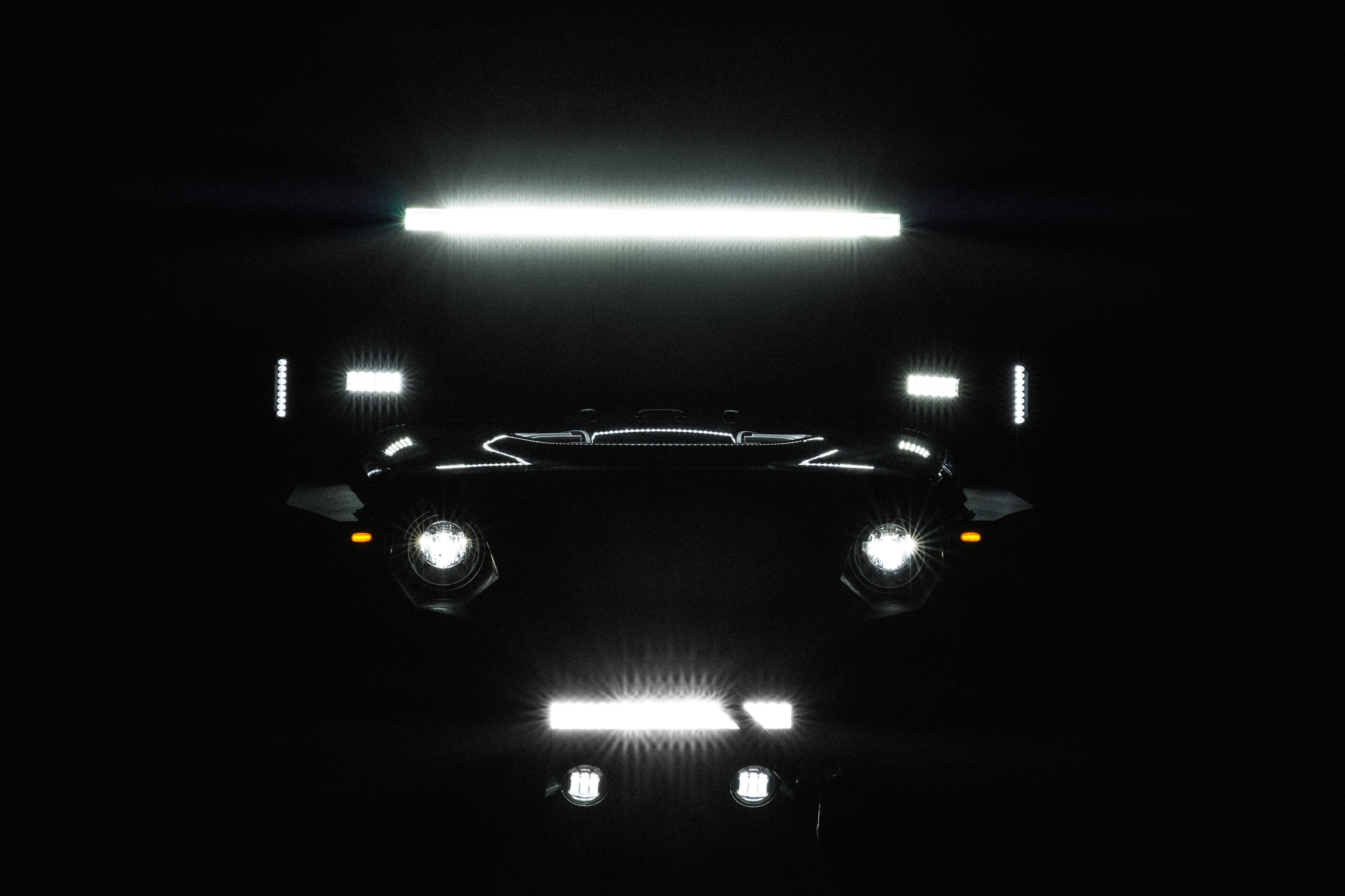 Car with LED lights