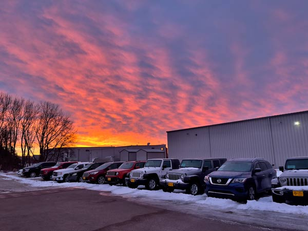 txg automotive sioux falls at sunrise