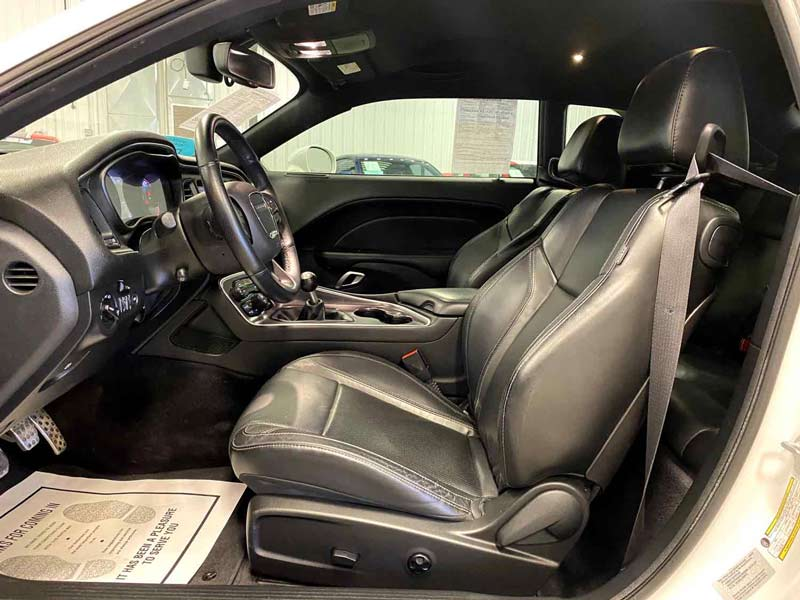 interior leather after auto detailing