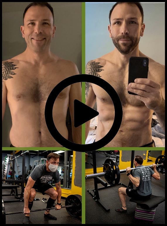 chris before/after at utg personal training in westwood nj