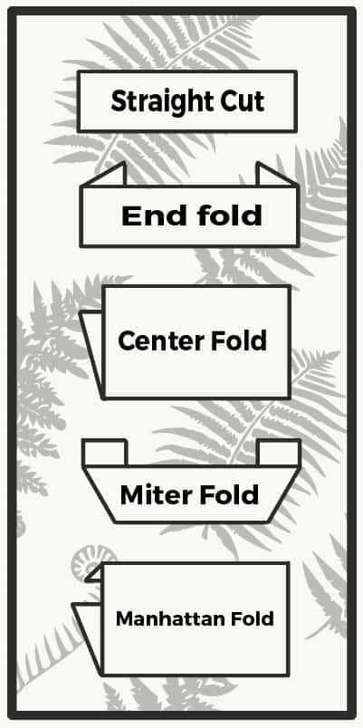 Woven Label Fold Diagram