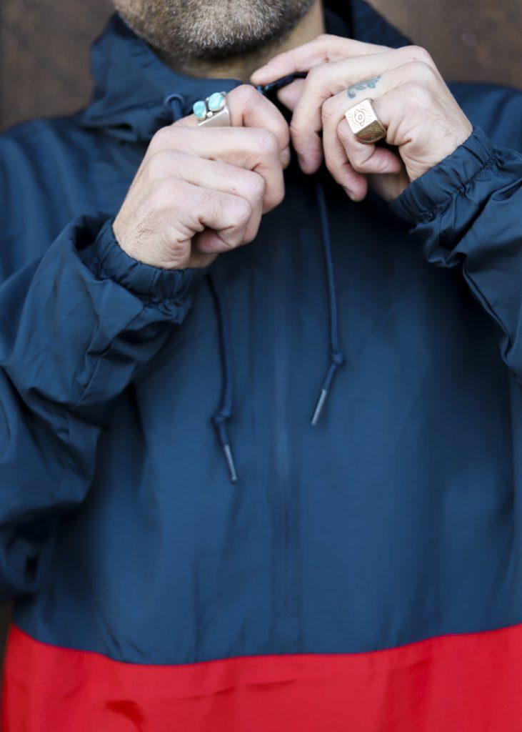anorak jacket up close detail