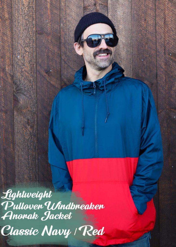 pullover windbreaker anorak