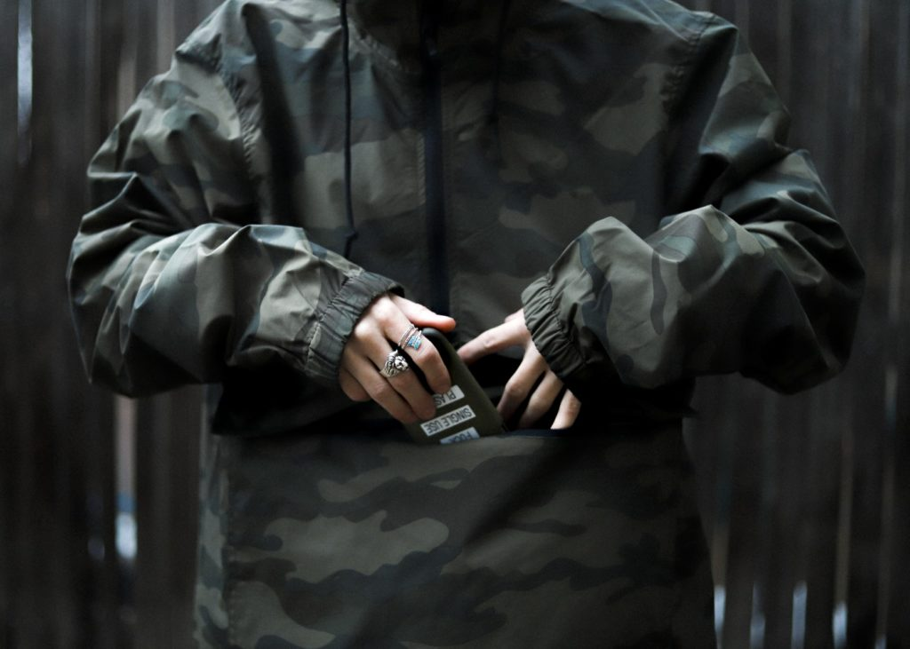 anorak forest camo detail