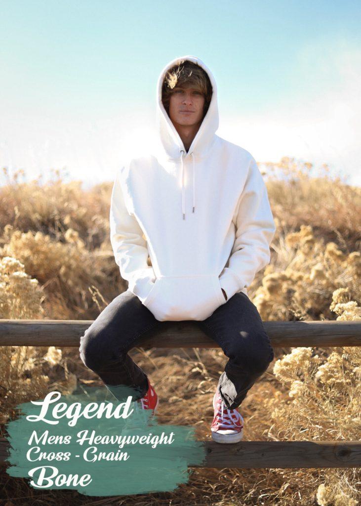 legend mens heavyweight hooded sweatshirt