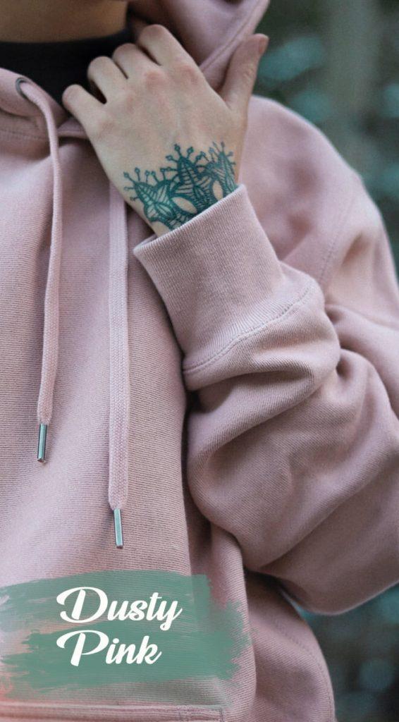 dusty pink heavyweight hoody
