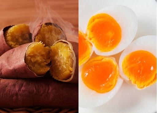 Khoai lang và trứng