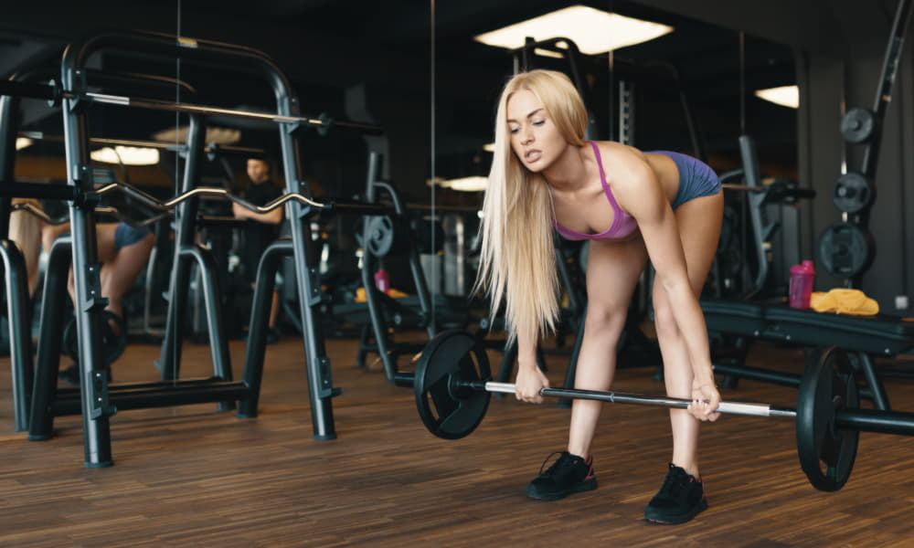 Standard Deadlift with resistance band