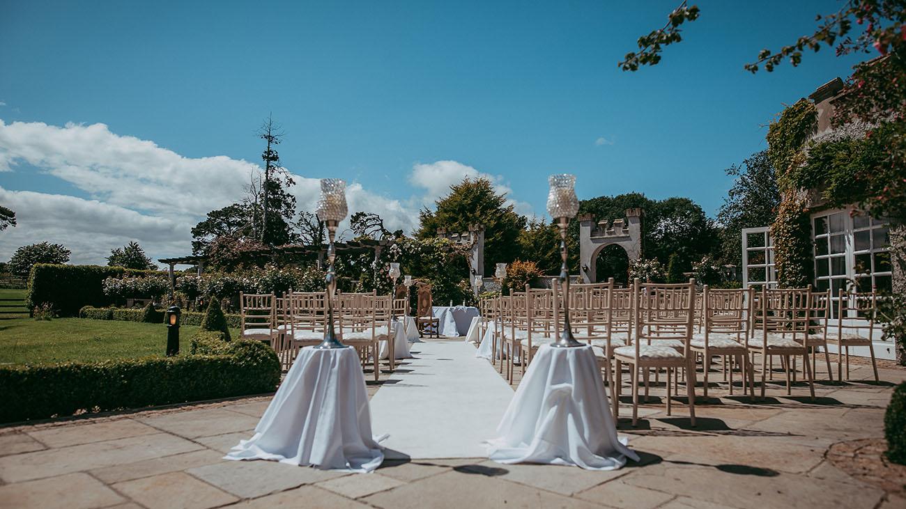 Bellingham Castle Outdoor Civil Ceremony Garden
