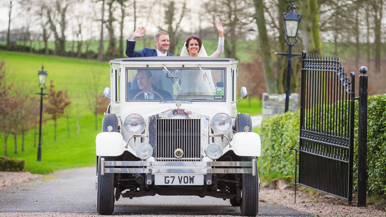Darver Castle Wedding Car
