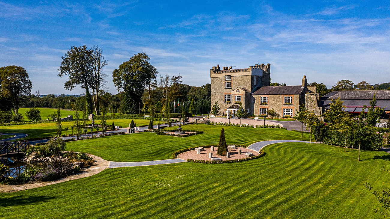 Darver Castle Front and Gardens