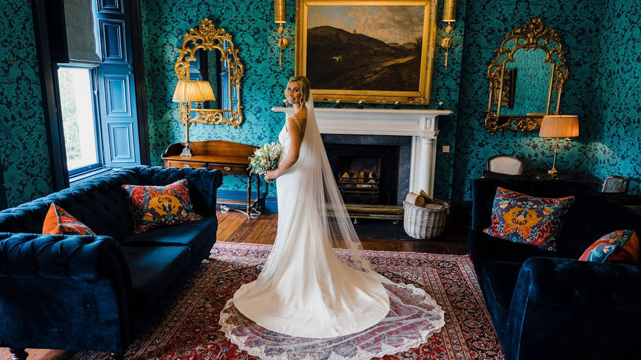 Boyne Hill House Bride in Living Area