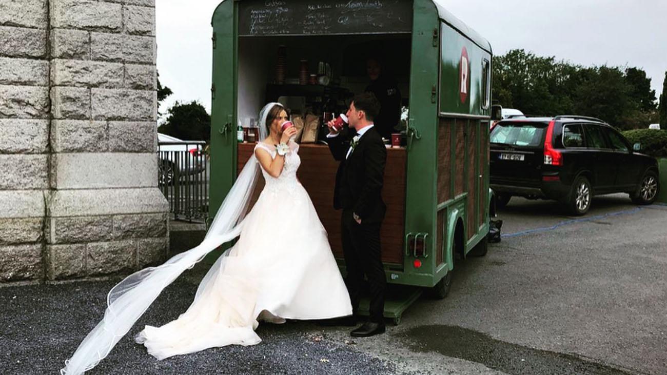 Rocksalt Wedding Truck Bride and Groom