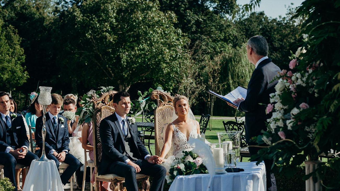 Michael Grace Celebrant performing a Wedding Ceremony