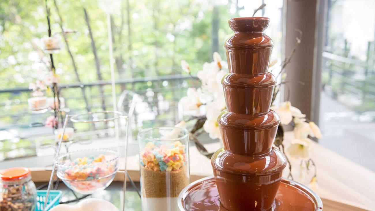 Audrey's Wedding Occasions Chocolate Fountain Decor