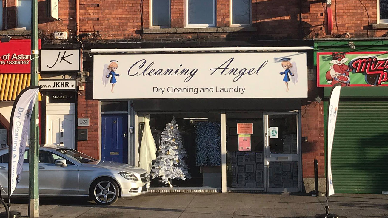 Cleaning Angel Shop Front