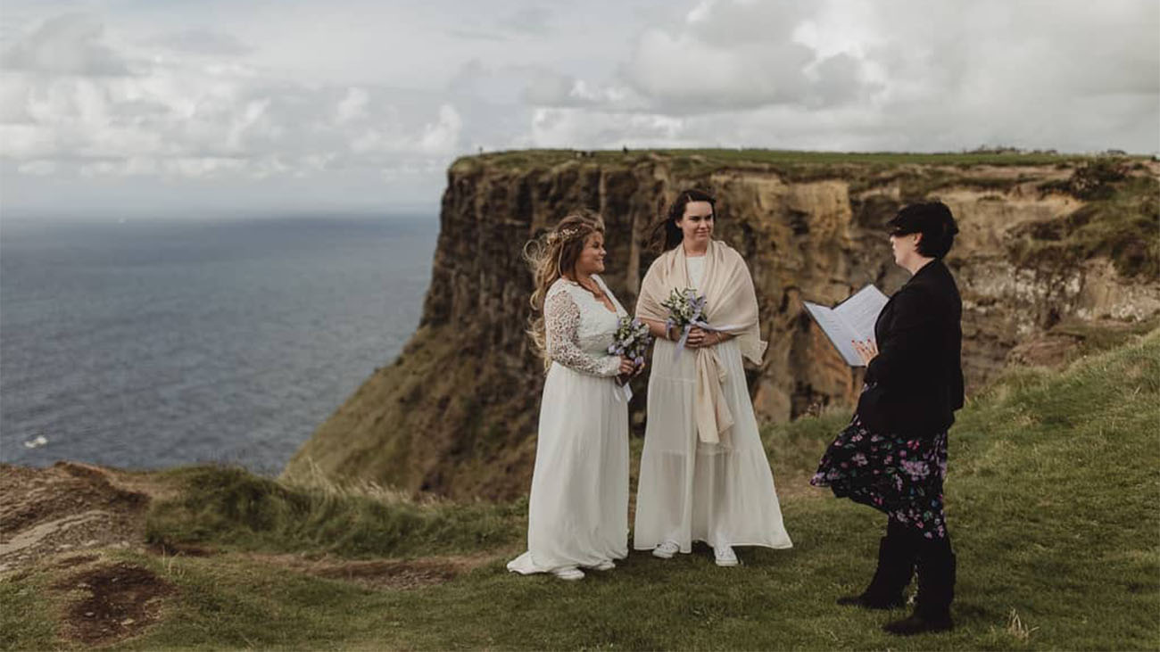 Yvonne Cassidy Celebrant marring Same Sex Couple Brides