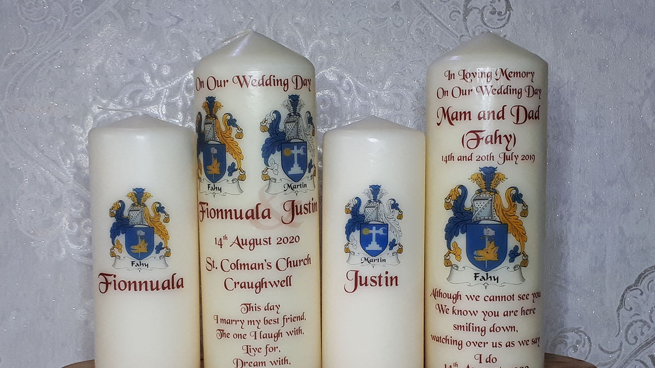 Athenry Candles for Wedding