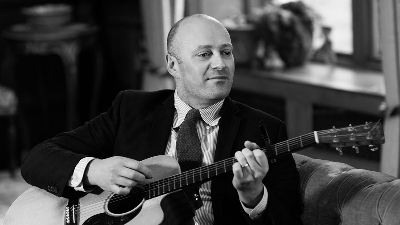 Graham Coe Playing Guitar and Singing at Wedding