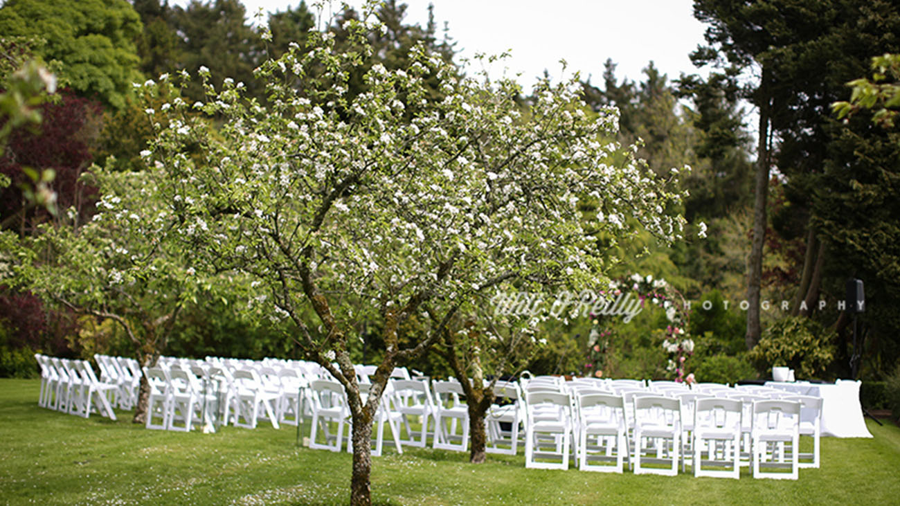 Rathsallagh Country House Outdoor Civil Ceremony Garden