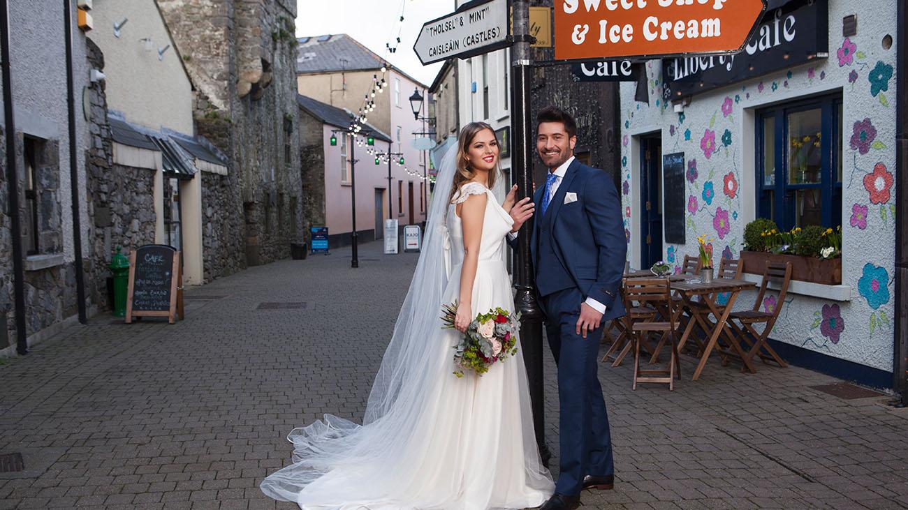 Four Seasons Hotel Bride and Groom in Carlingford Village