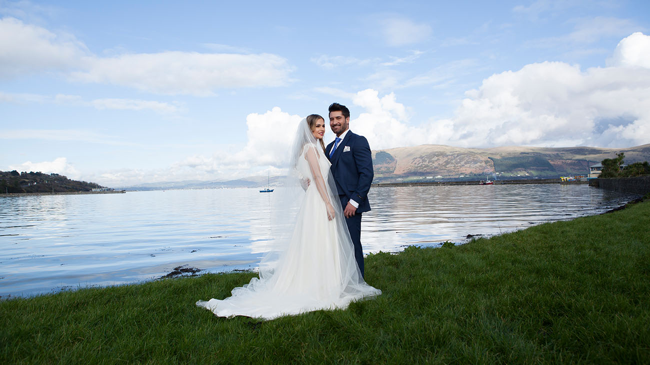 Four Seasons Hotel Bride and Groom at Carlingford