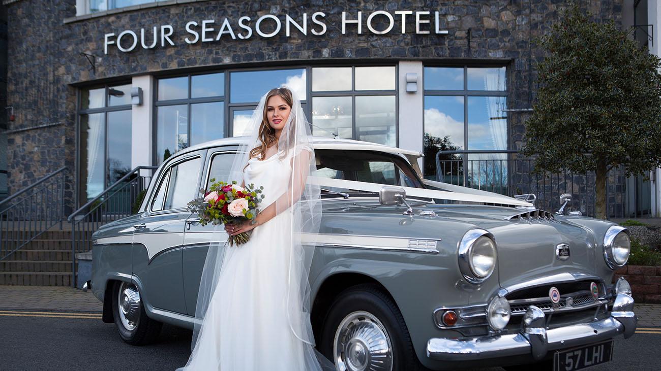 Four Seasons Hotel Bride and Wedding Car