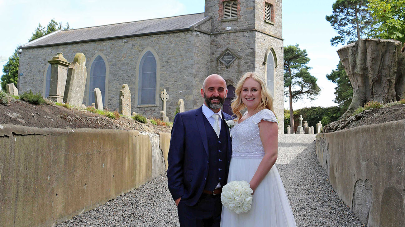 Gerrard's Church Bride and Groom Outside