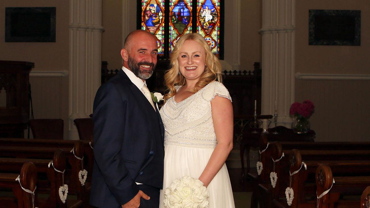 Gerrard's Church Bride and Groom Inside