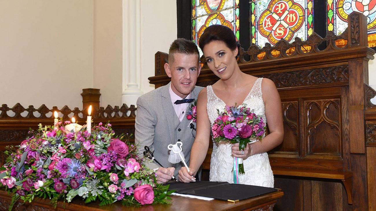 Gerrard's Church Bride and Groom