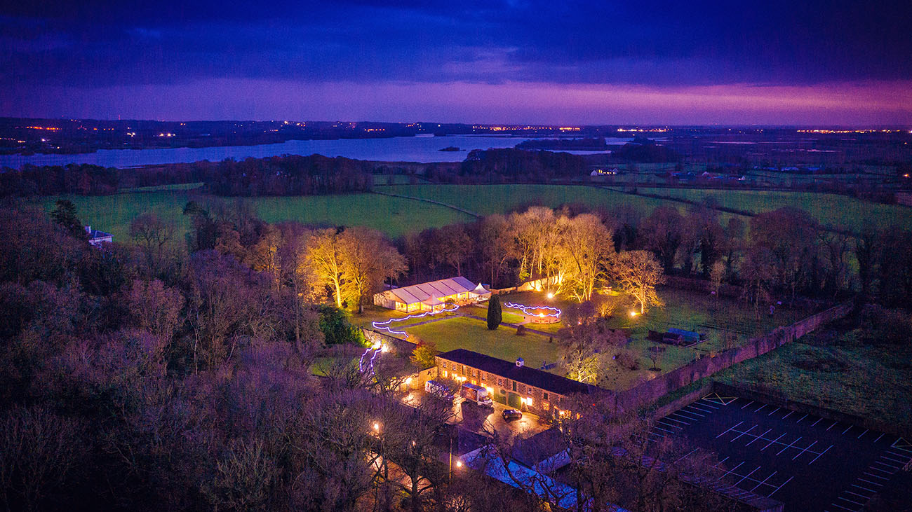 Ballyscullion Park Aerial Photo at Night