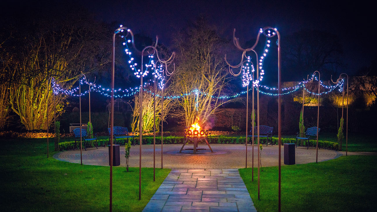 Ballyscullion Park Fairy Light Garden at Night