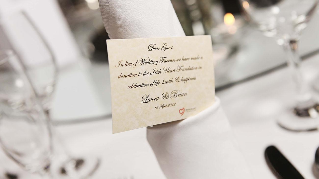 Irish Heart Foundation Wedding Favours
