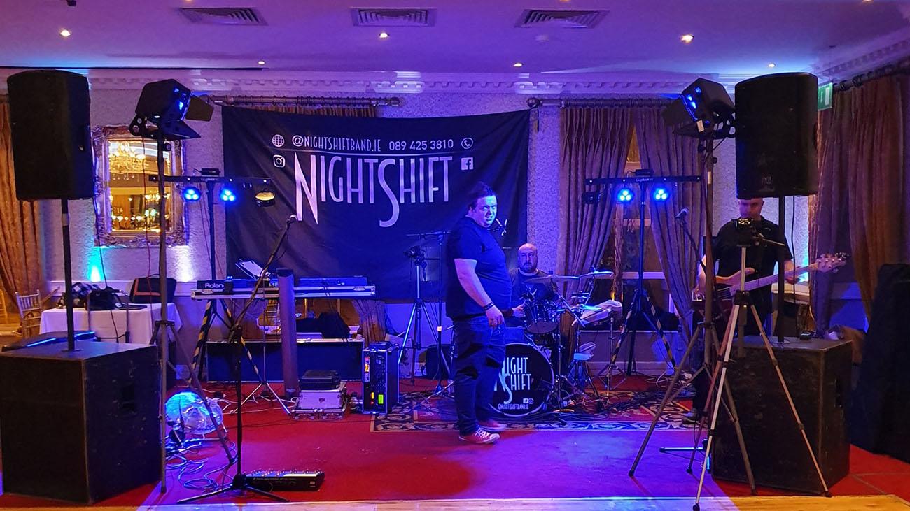 NightShift Band Set Up Wedding