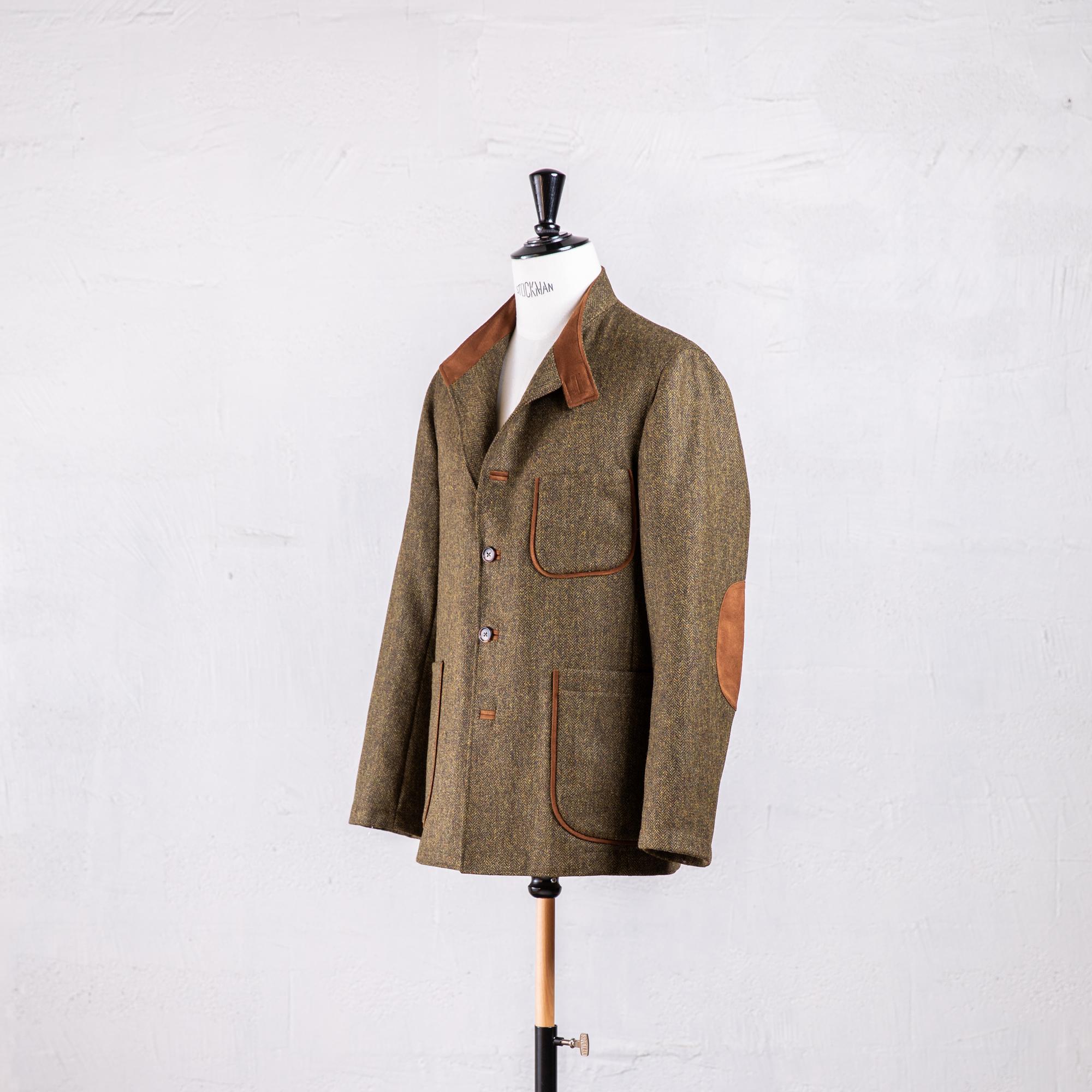 veste en tweed vert Caminel