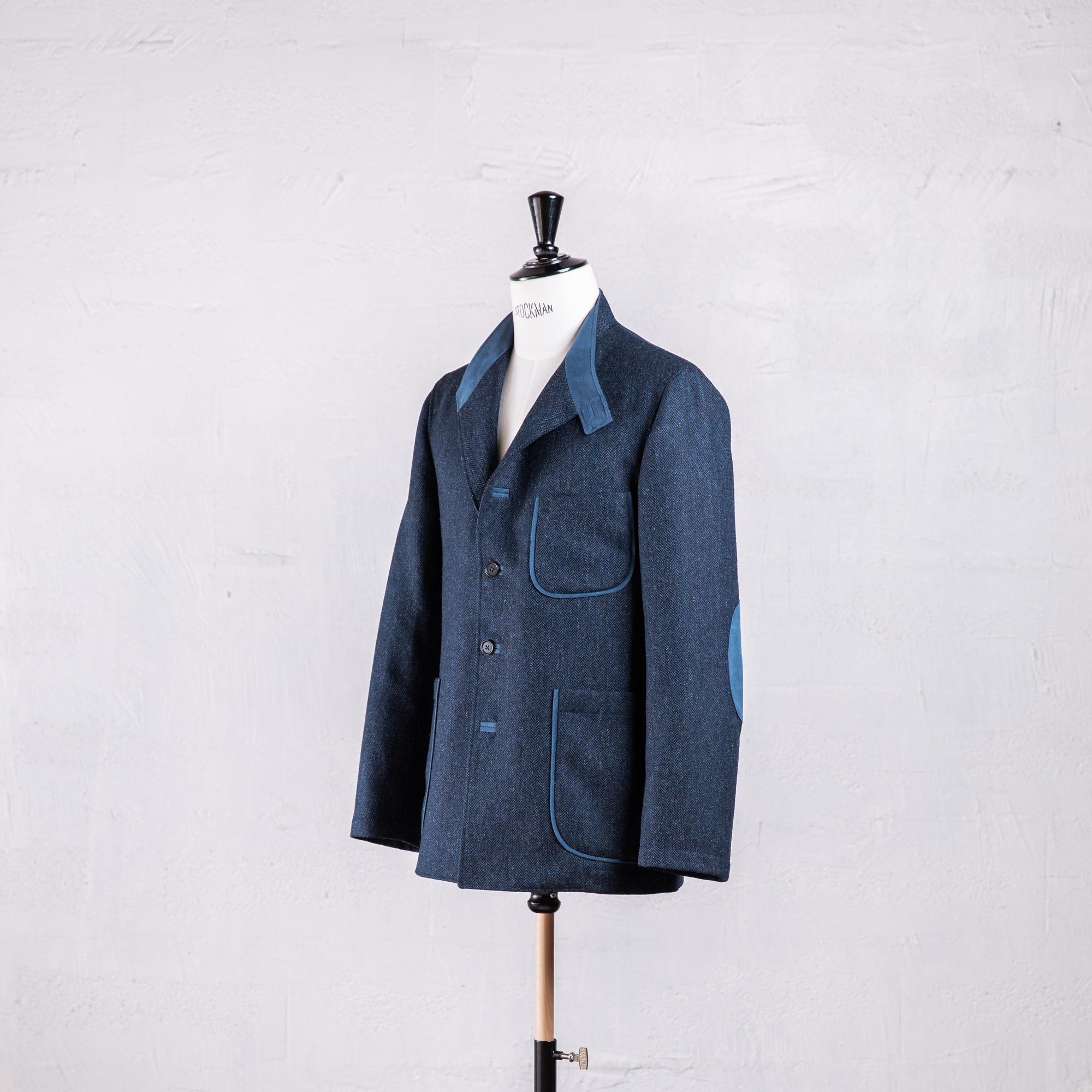 veste droite en tweed Caminel